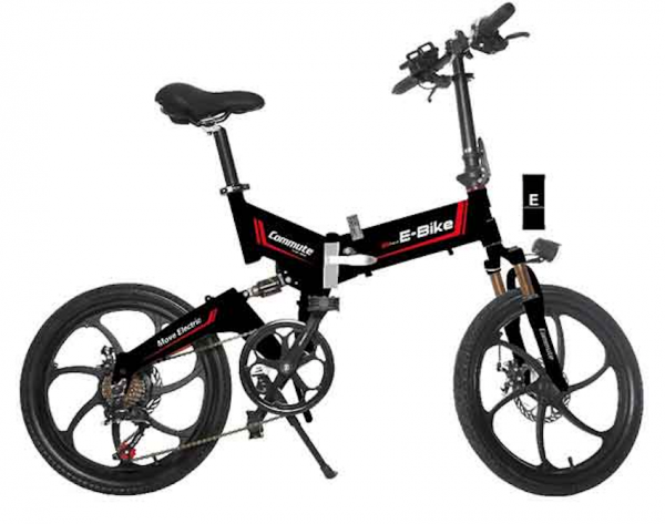 Black city folding bike